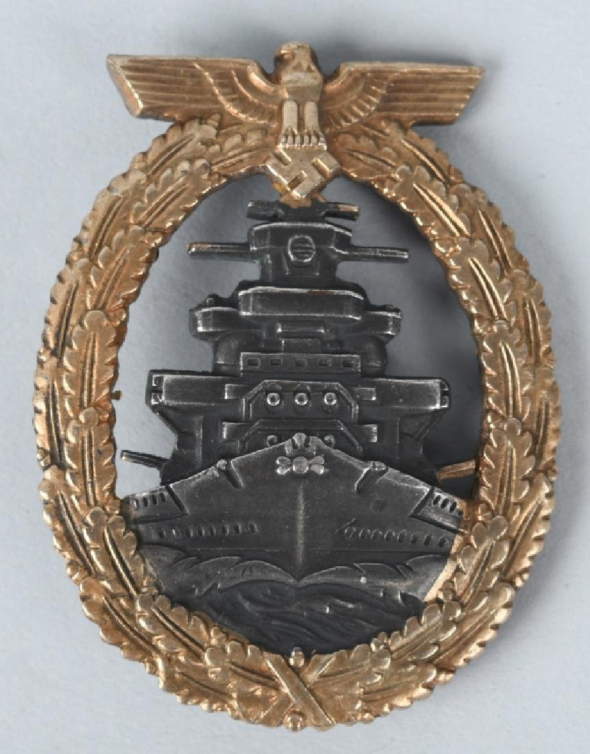 WWII Naval Kriegsmarine High Seas Fleet Badge