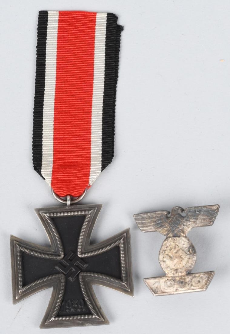 WWII NAZI GERMAN 2ND CLASS IRON CROSS & CLASP