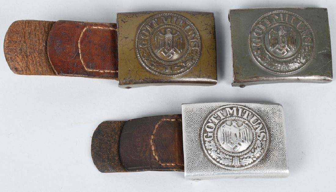 WWII NAZI GERMAN ARMY ENLISTED MAN BELT BUCKLE LOT