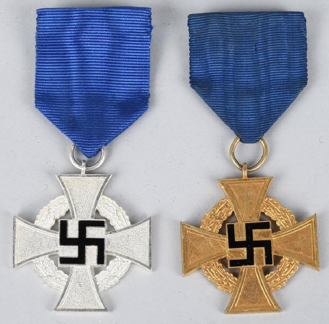 WWII NSDAP POLITICAL FAITHFUL SERVICE BADGE LOT 2