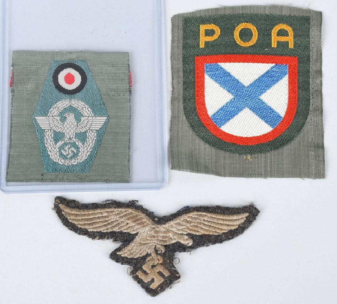 WWII NAZI INSIGNIA AND PATCHES