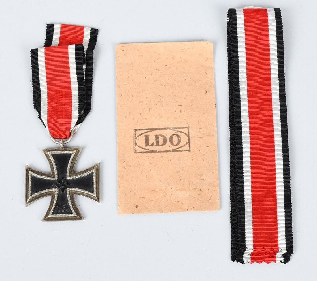 WWII NAZI 2ND CLASS IRON CROSS +3 EXTRA RIBBONS