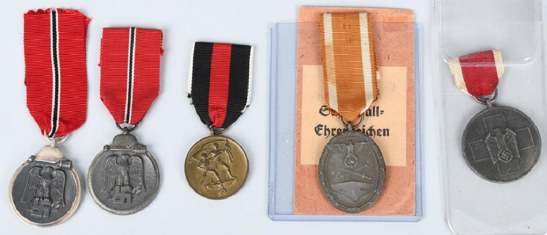 WWII NAZI GERMAN MEDAL LOT (5)