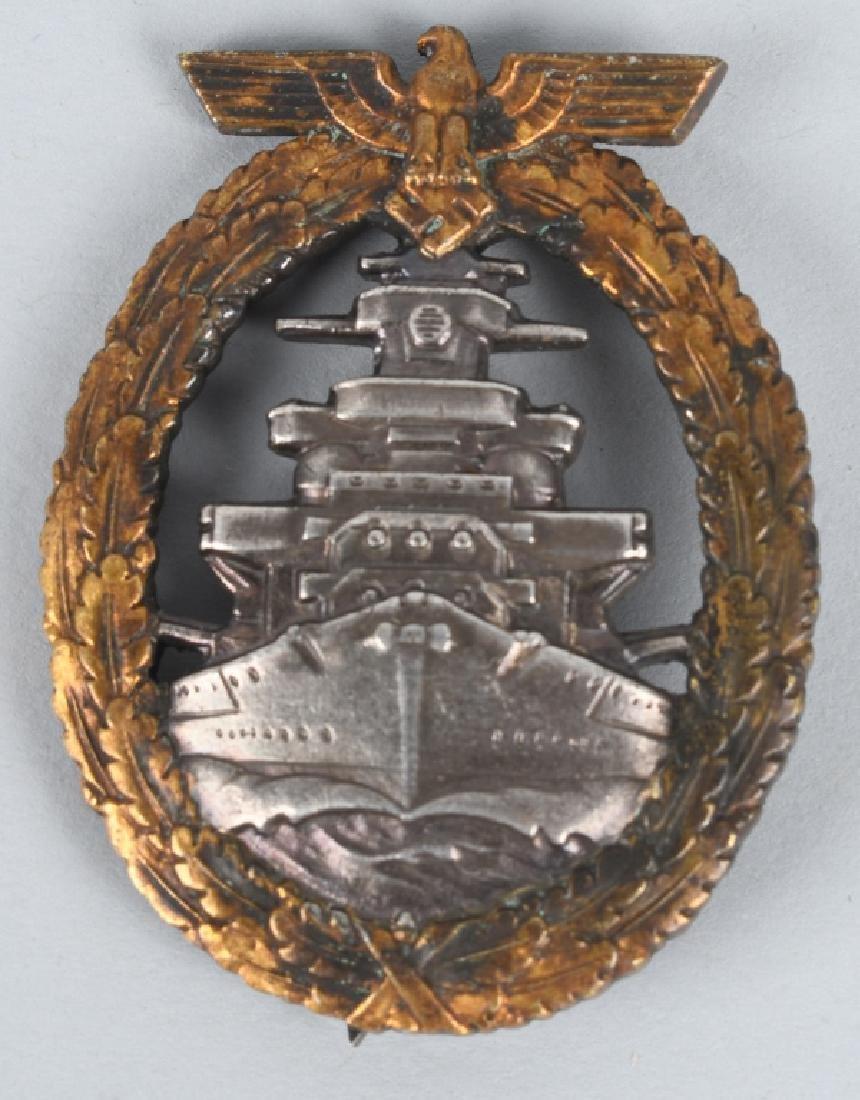 WWII GERMAN NAZI NAVAL HIGH SEAS FLEET BADGE