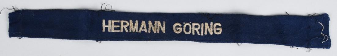 WWII LUFTWAFFE HERMAN GOERING EM CUFF TITLE
