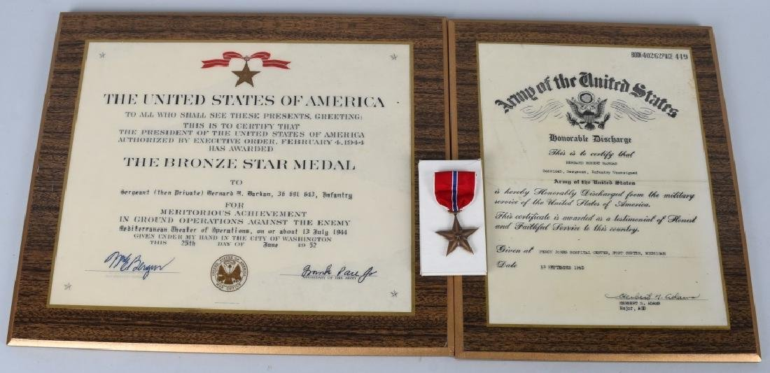 WWII U.S. IDED BRONZE STAR & DOCUMENTS