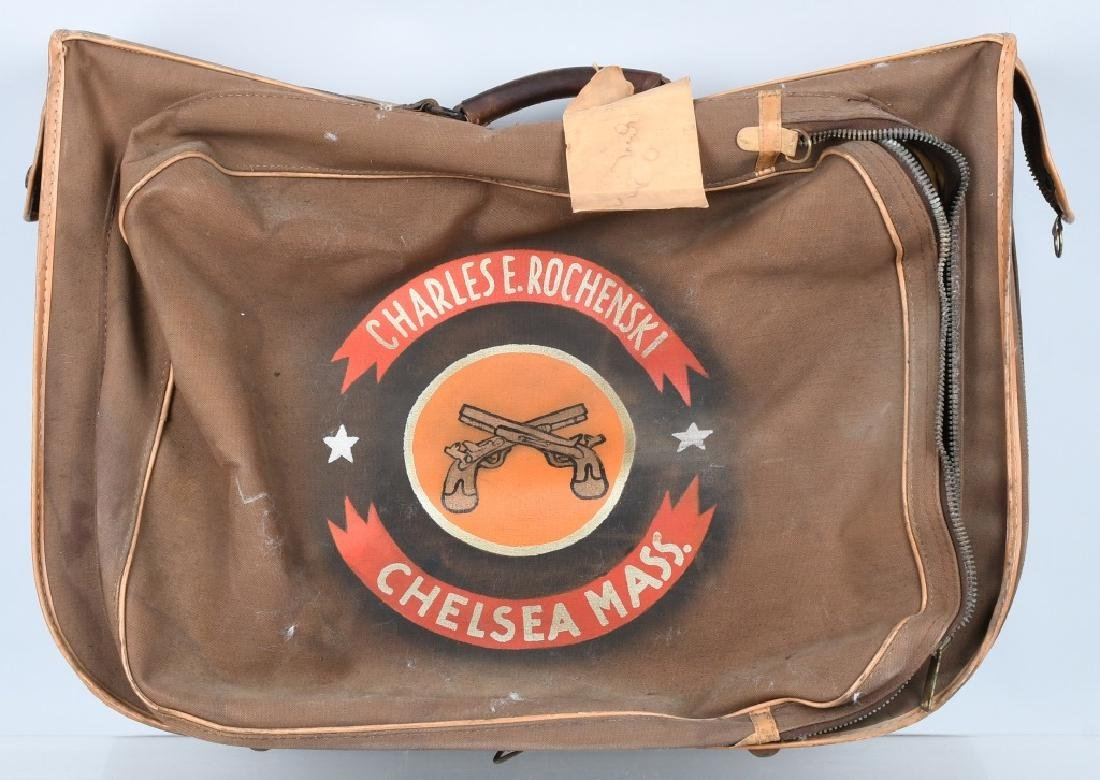 WWII 508TH MILITARY POLICE PAINTED SUIT CASE -IDED