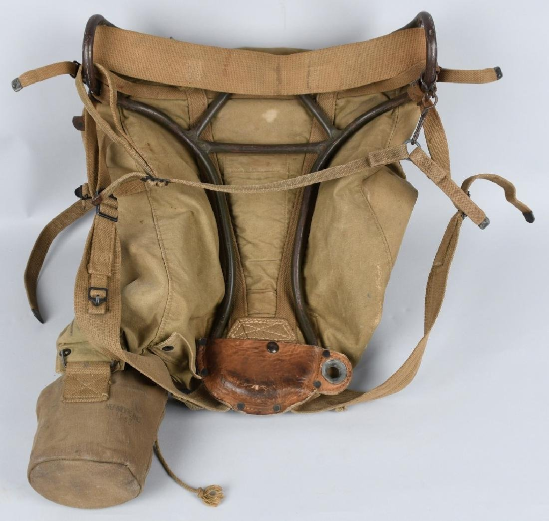 WWII U.S. AVERY BACK PACK AND CANTEEN