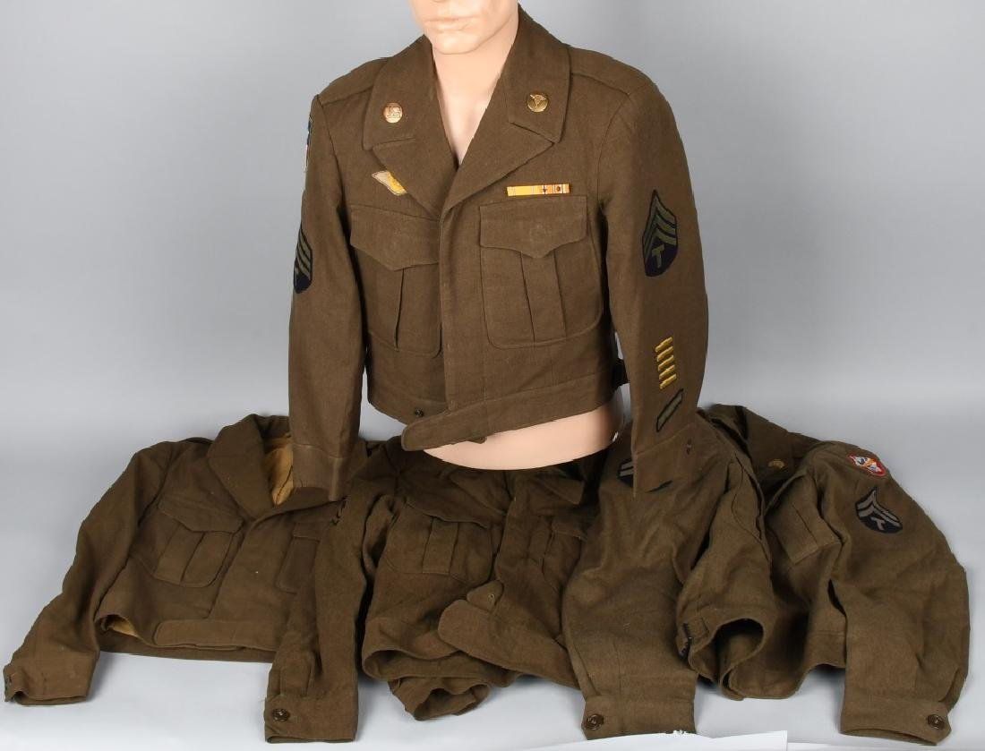 WWII U.S. LOT OF 4 IKE JACKETS - TWO NAMED