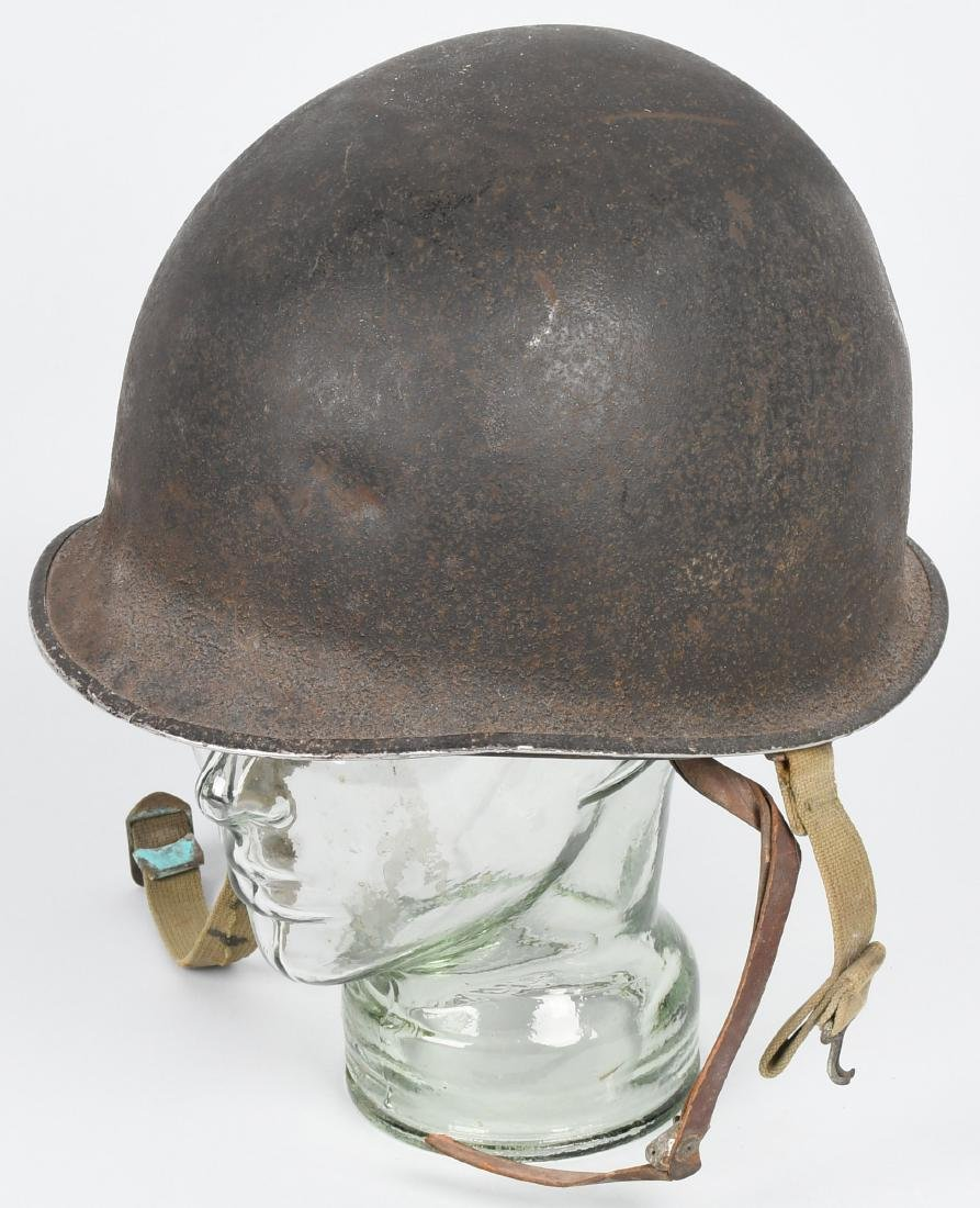 WWII US M1 FIXED BALE, FRONT SEAM HELMET
