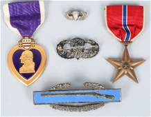 WWII 82ND AIRBORNE GROUP PURPLE HEART JUMP WINGS