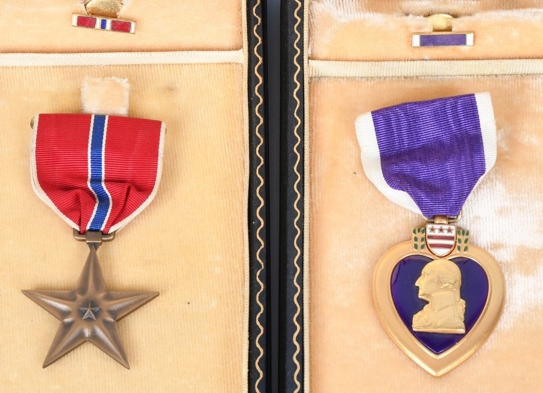 WWII 82ND AIRBORNE GROUP PURPLE HEART JUMP WINGS - 5