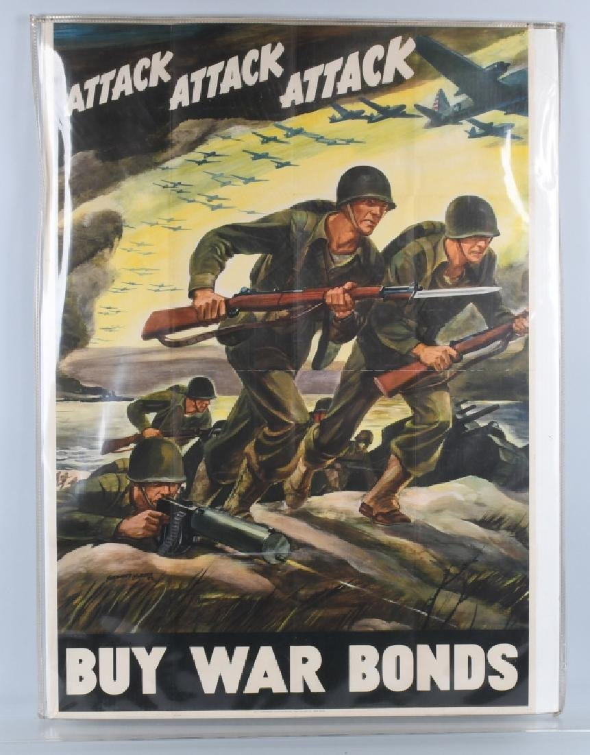 WWII U.S. POSTER WAR BONDS BY FERDINAND WARD 1942