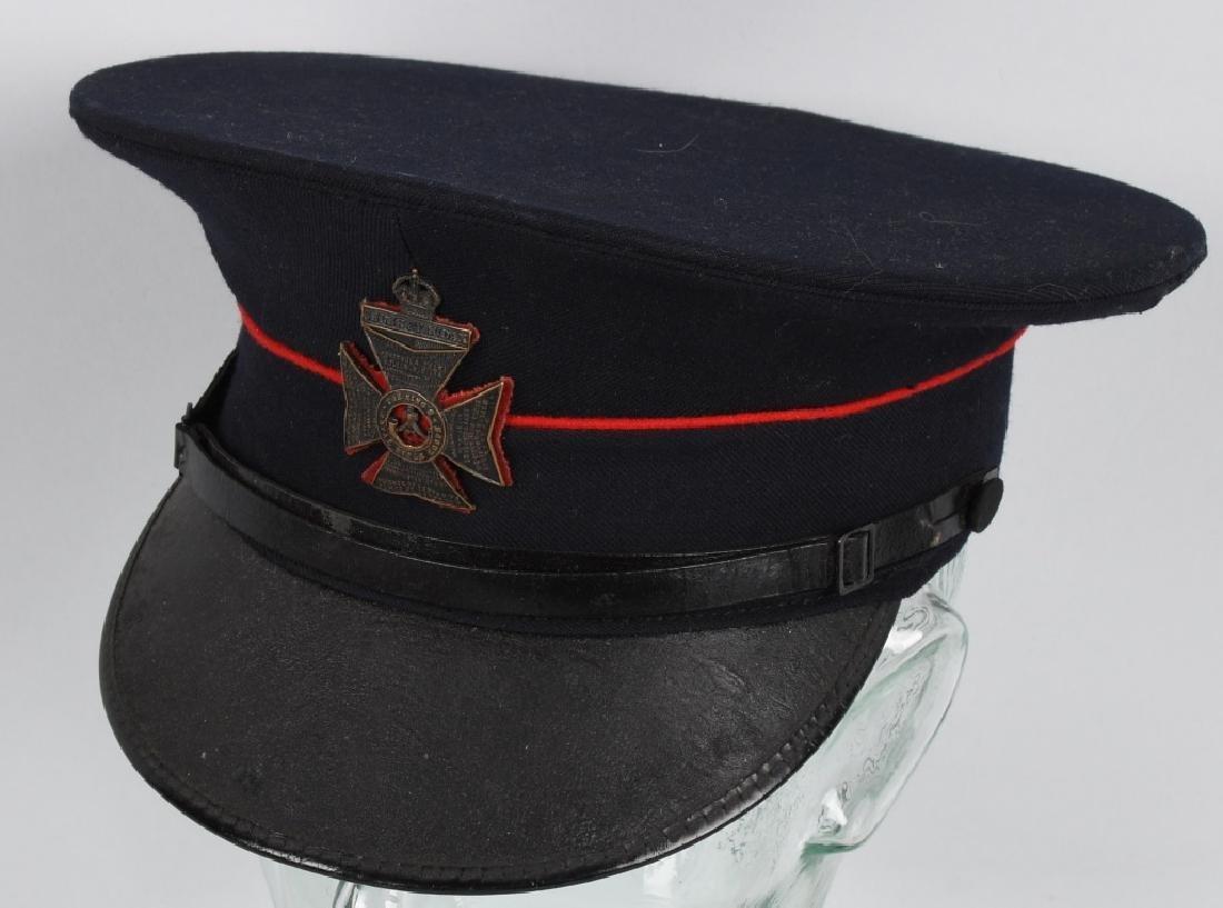 WWII BRITISH ROYAL RIFLE CORPS VISOR HAT - 1942