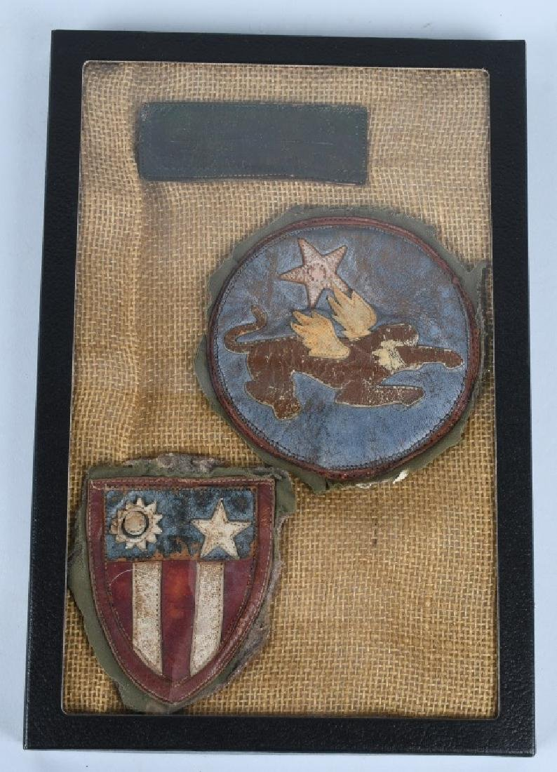 WWII U.S. AAF THEATER MADE CBI PATCHES FROM JACKET
