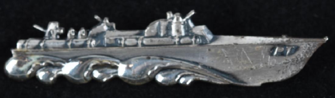 WWII U.S. NAVY PT BOAT BADGE - STERLING