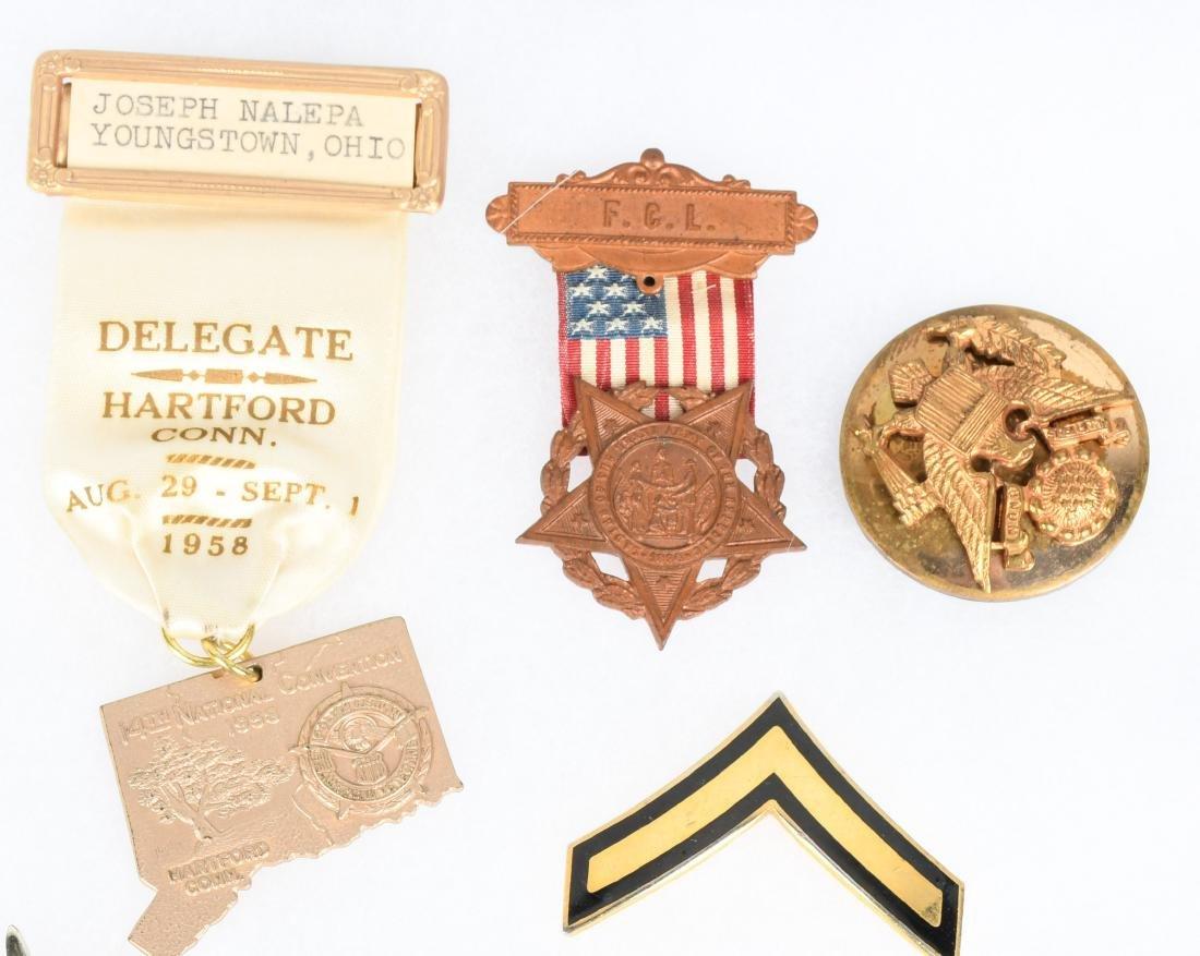 U.S. MILITARY PIN COLLAR DISC INSIGNIA LOT - 6