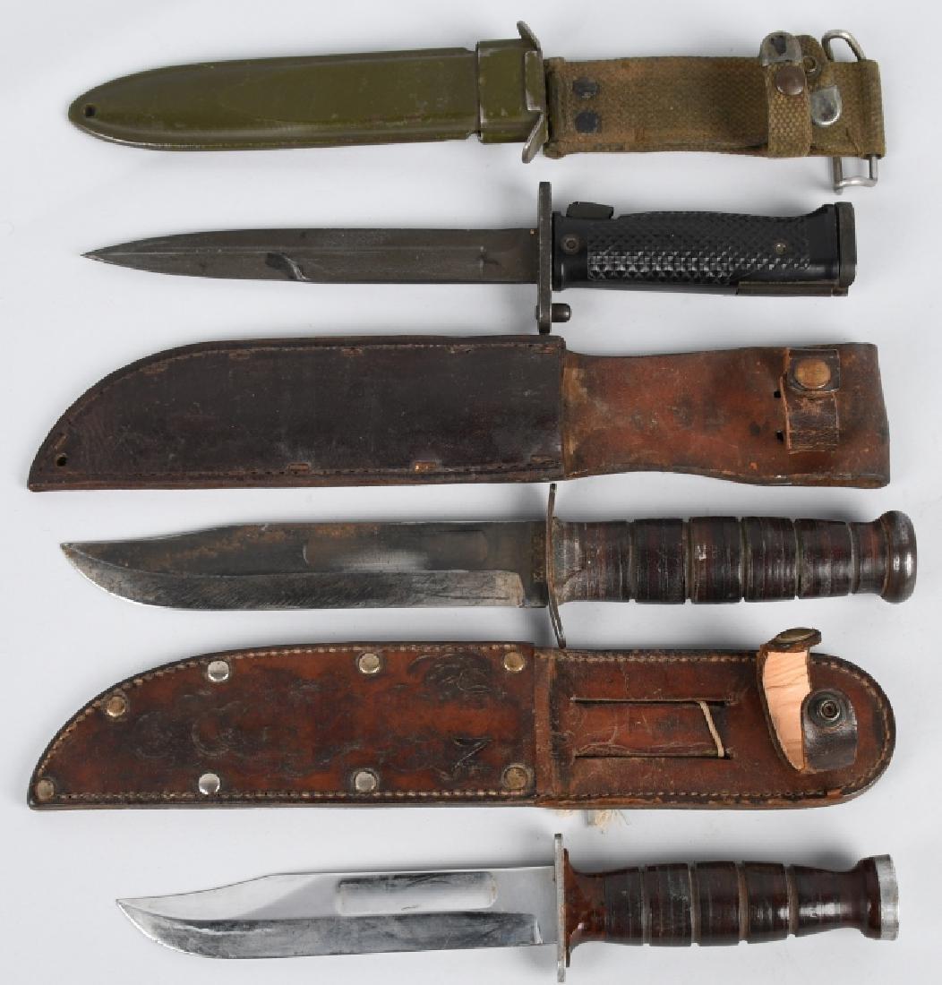 U.S. KA-BAR FIGHTING KNIFE & BAYONET LOT