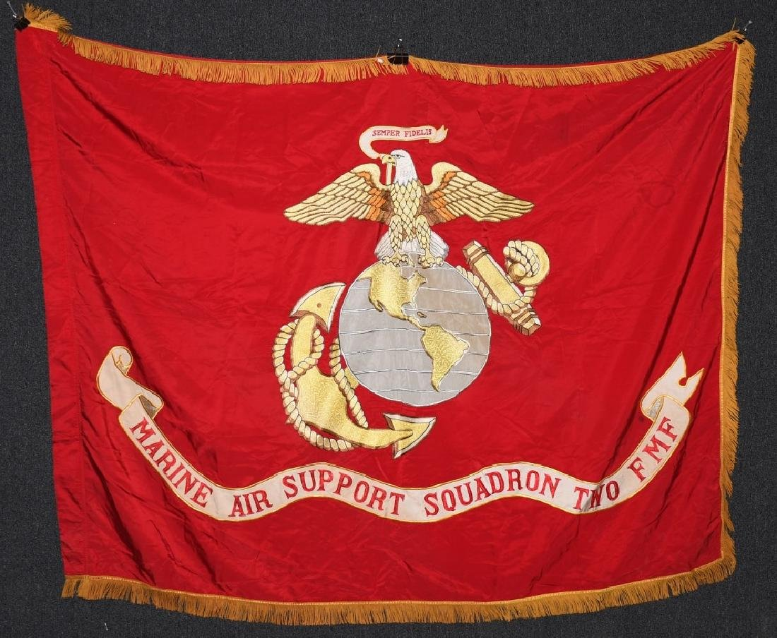 VINTAGE USMC MARINE AIR SUPPORT SQAUDRON 2 FLAG
