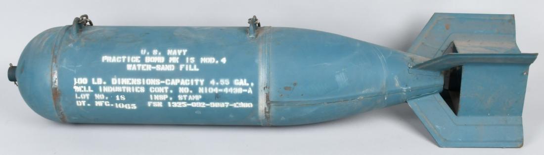 VIETNAM WAR U.S. NAVY MK-15 M 4 PRACTICE BOMB