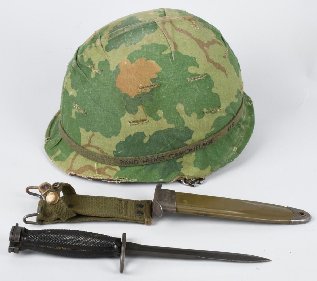 VIETNAM WAR M65 HELMET & M7 BAYONET