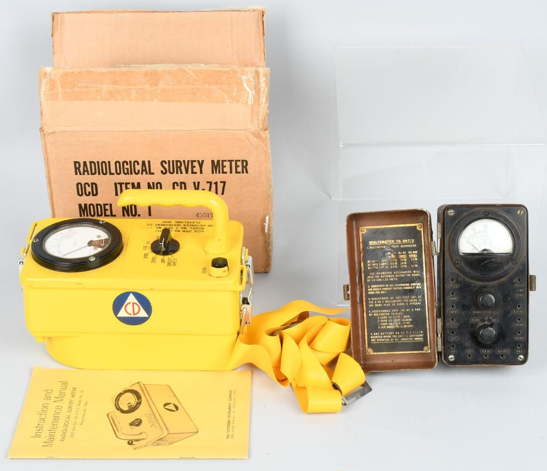 WWII US ARMY TS-297/U MULTIMETER & GEIGER COUNTER