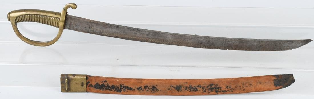 19th CENTURY GERMAN REMSCHEID CUTLASS & SCABBARD