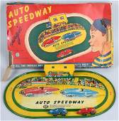 AUTOMATIC Tin Windup AUTO SPEEDWAY w/ BOX