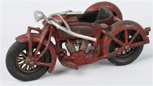 1930's HUBLEY INDIAN MOTORCYCLE & SIDECAR