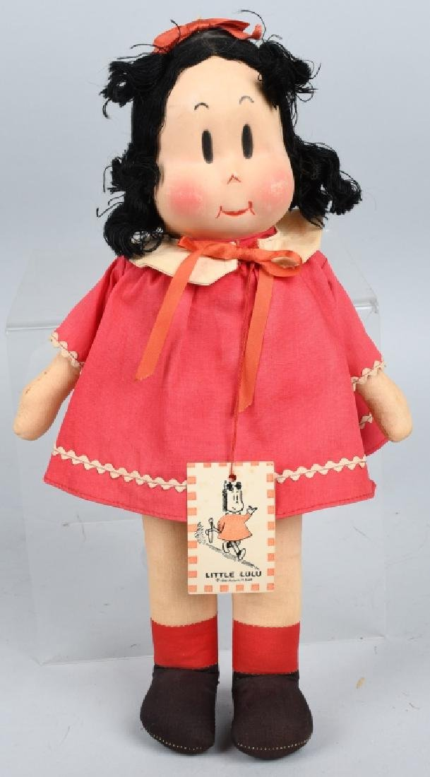 LITTLE LULU CLOTH DOLL, 1944 GEORGINE, NOVELTIES