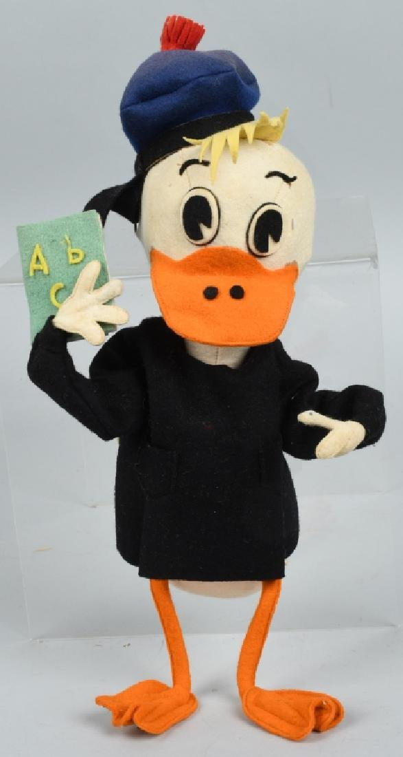 DONALD DUCK PRESSED FELT TEACHER DOLL, VINTAGE