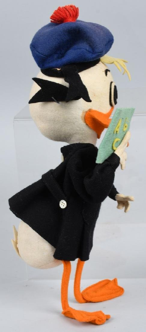 DONALD DUCK PRESSED FELT TEACHER DOLL, VINTAGE - 4