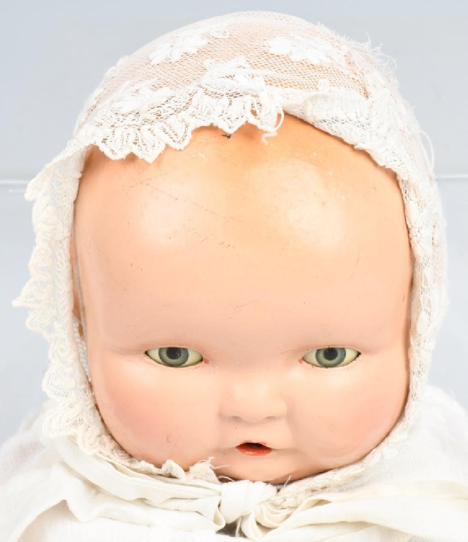 3-VINTAGE COMPOSITION DOLLS, BABY LAMBKIN & MORE - 3