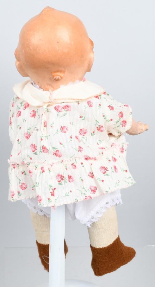 3-VINTAGE COMPOSITION DOLLS, BABY LAMBKIN & MORE - 9
