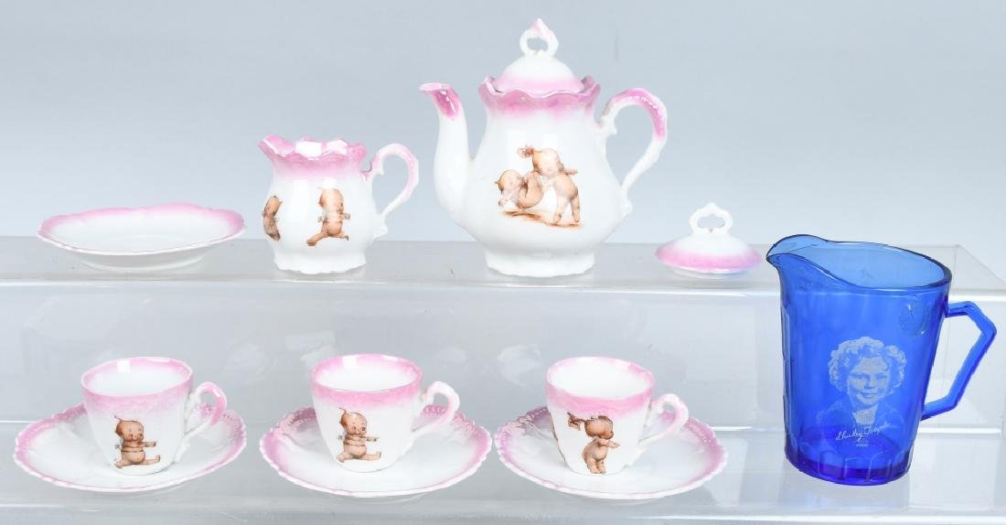 GERMAN ROSE O'NEIL KEWPIE DOLL CHINA TEA SET