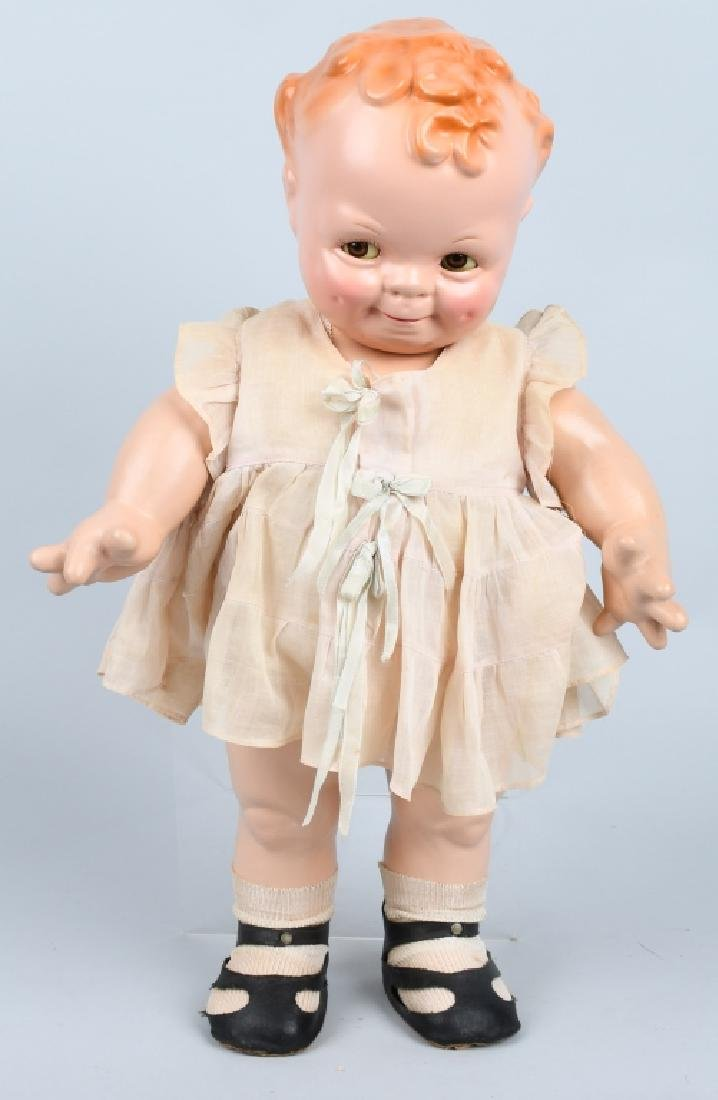 """1920's CAMEO COMPOSITION """"SCOOTLES"""" DOLL, 20"""""""