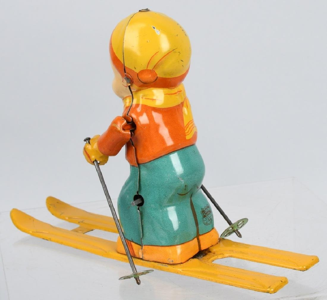 CHEIN tin windup SKI BOY - 2