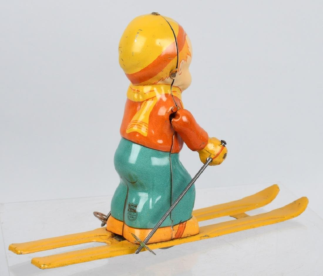CHEIN tin windup SKI BOY - 3