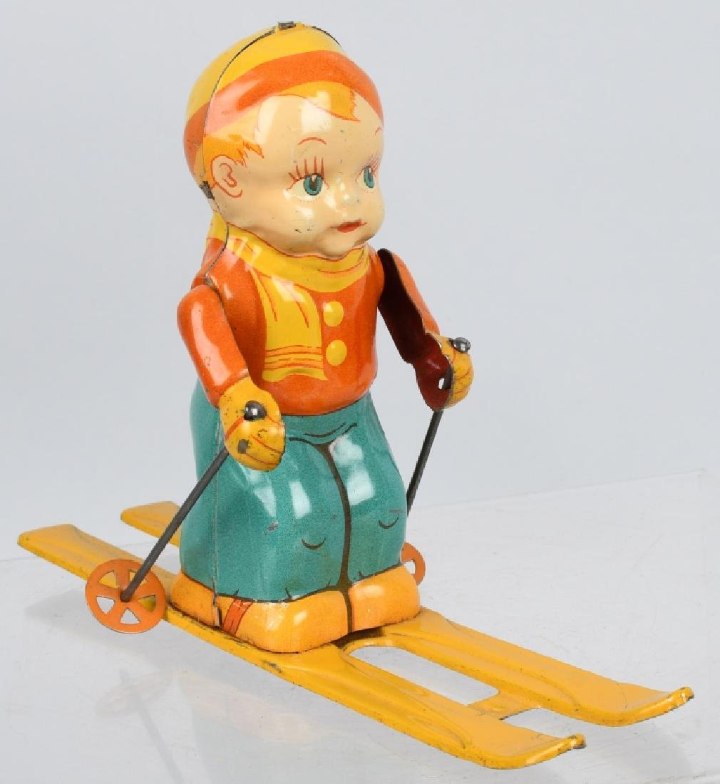 CHEIN tin windup SKI BOY - 4