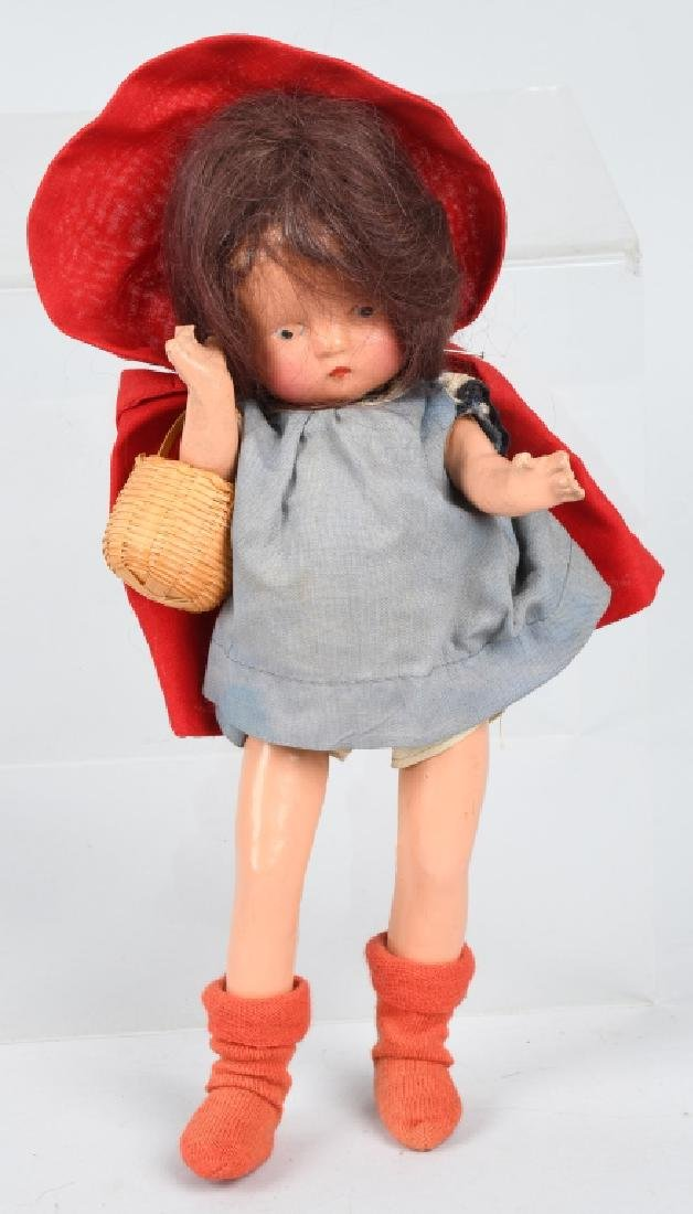 "10"" FREUNDLICH LITTLE RED RIDING HOOD DOLL"