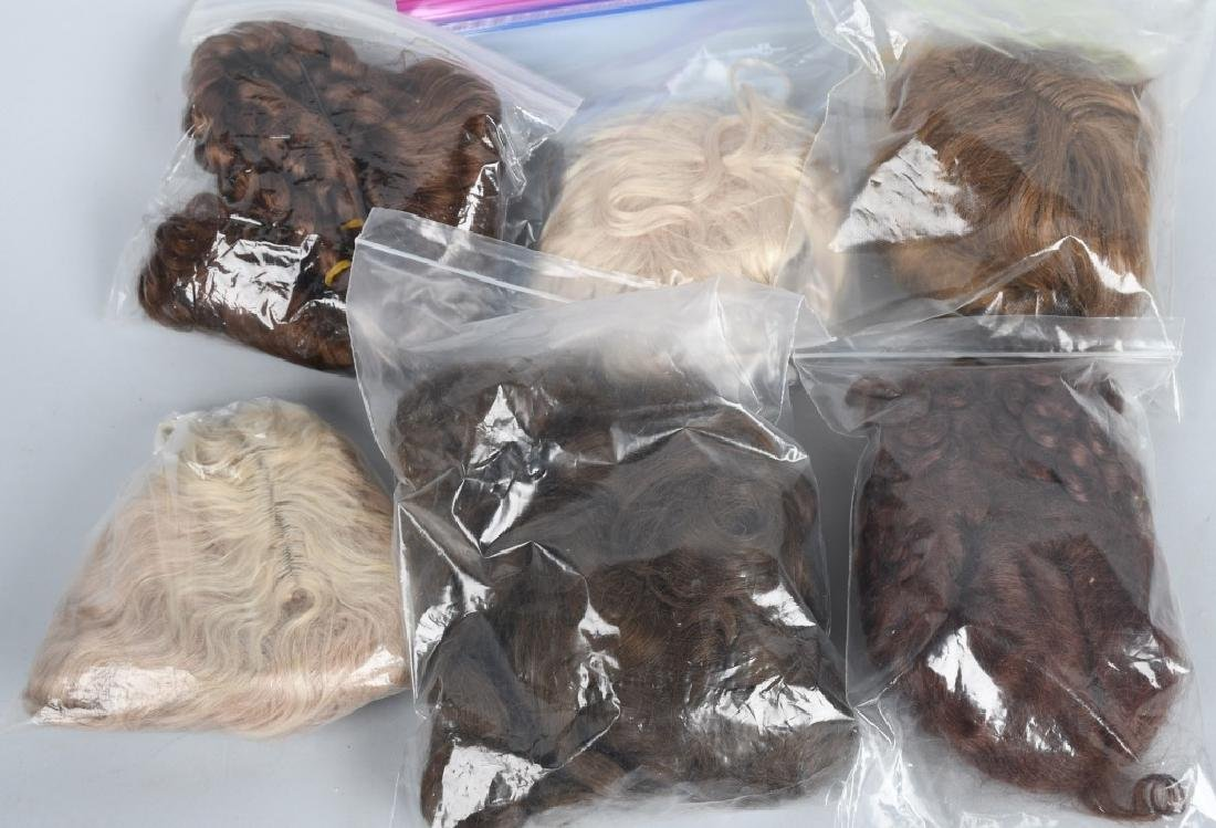 LARGE LOT of DOLL WIGS, HUMAN HAIR & MOHAIR - 2