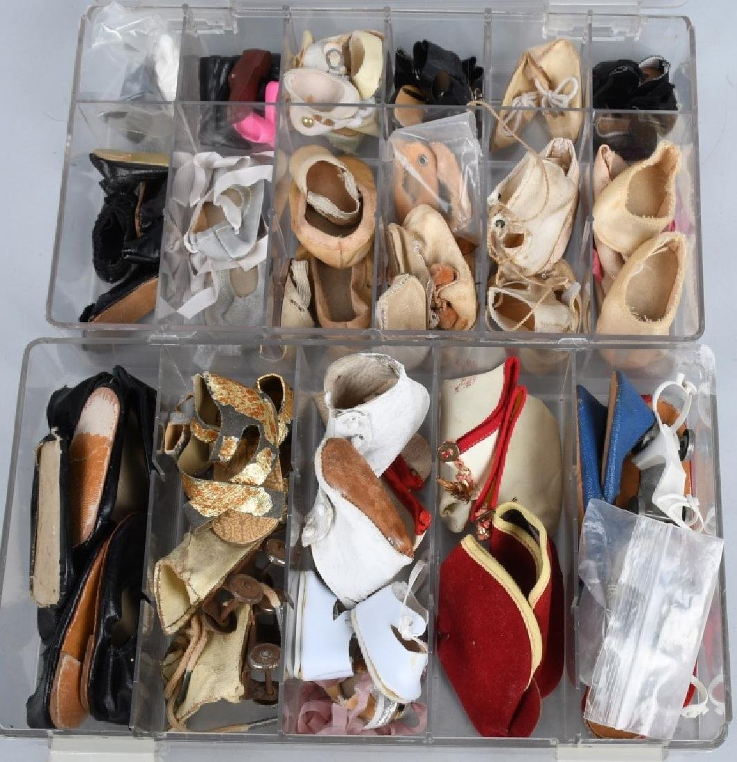 LARGE LOT of VINTAGE DOLL SHOES