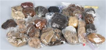 LARGE LOT of DOLL WIGS HUMAN HAIR  MOHAIR