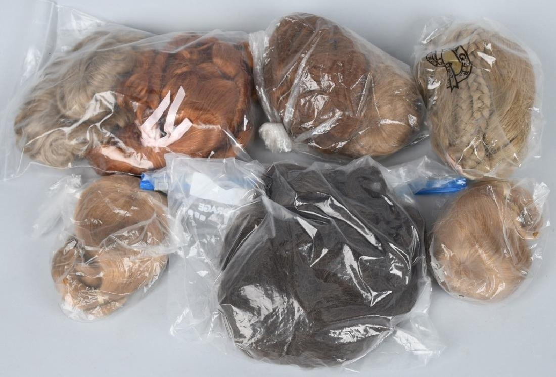 LARGE LOT of DOLL WIGS, HUMAN HAIR & MOHAIR - 3