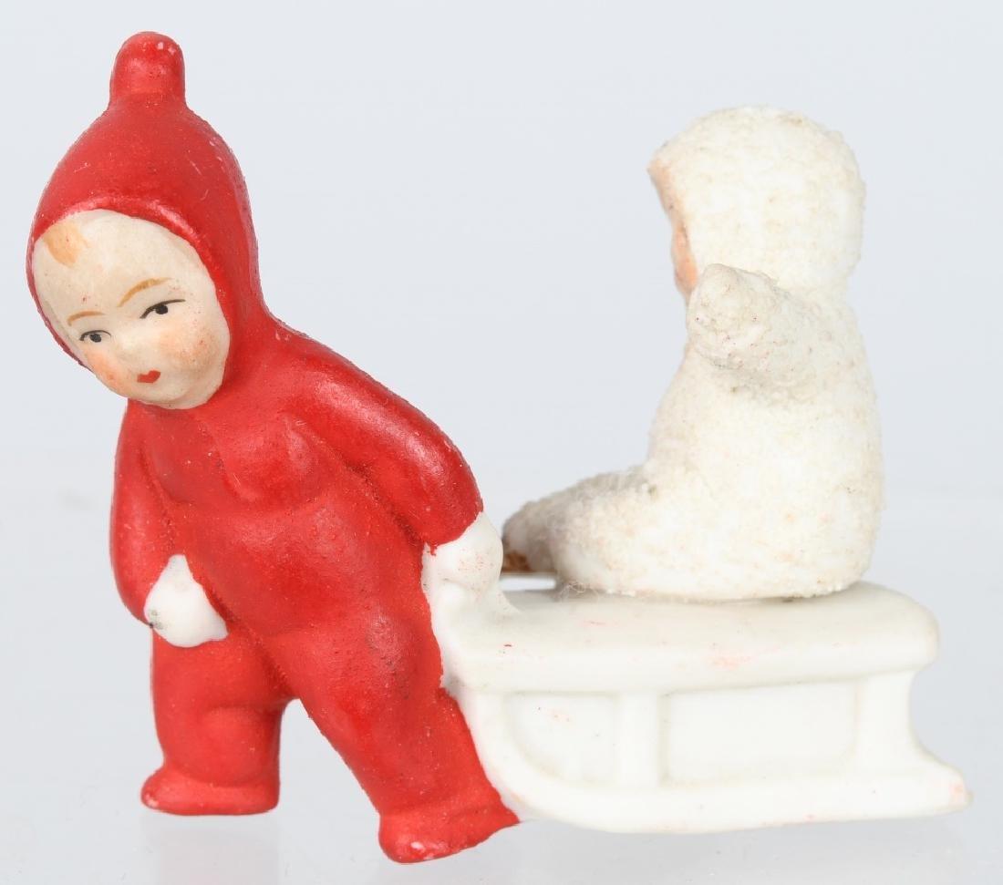 GERMAN BISQUE DOLL & SNOW BABY - 2