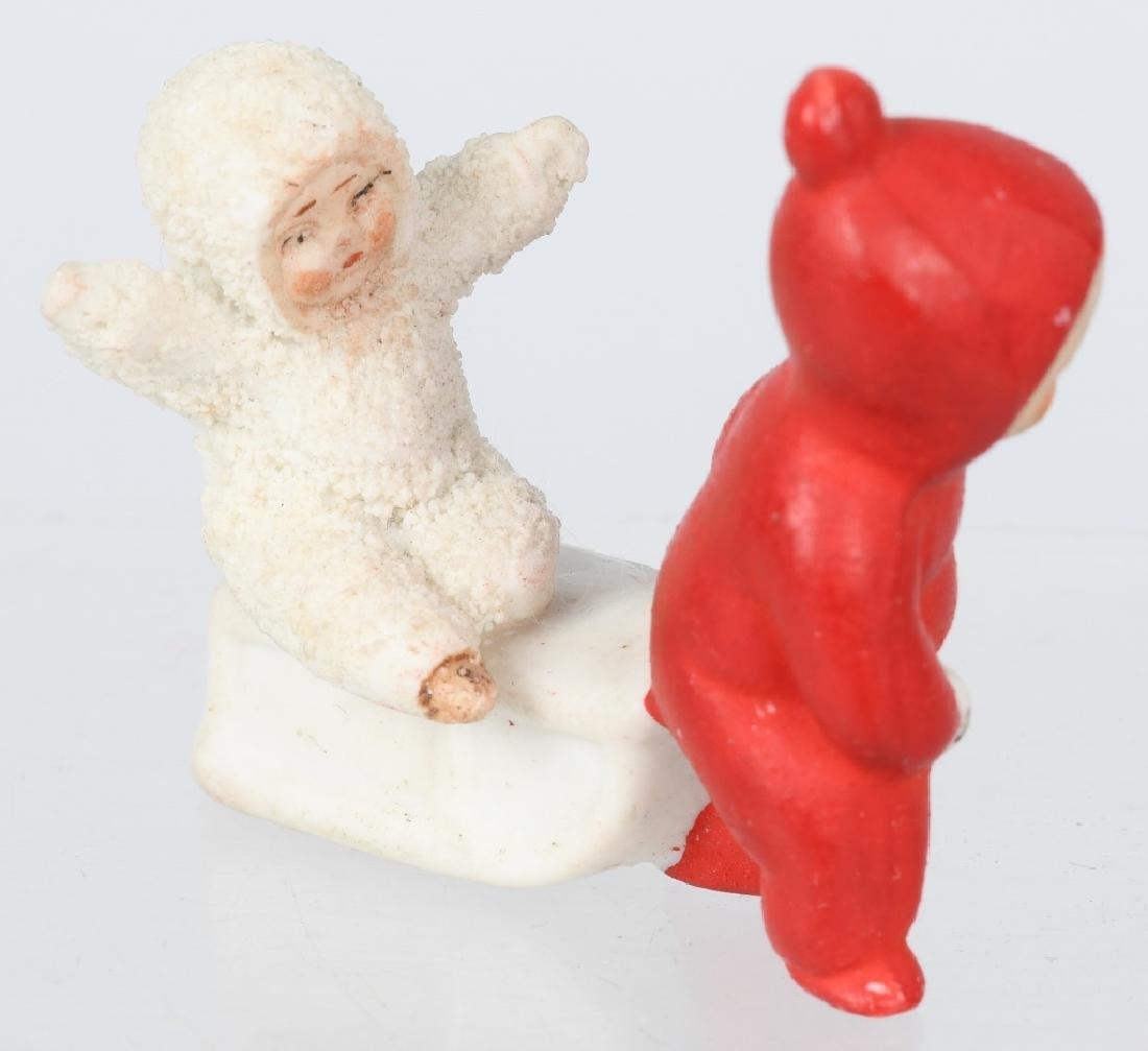 GERMAN BISQUE DOLL & SNOW BABY - 3