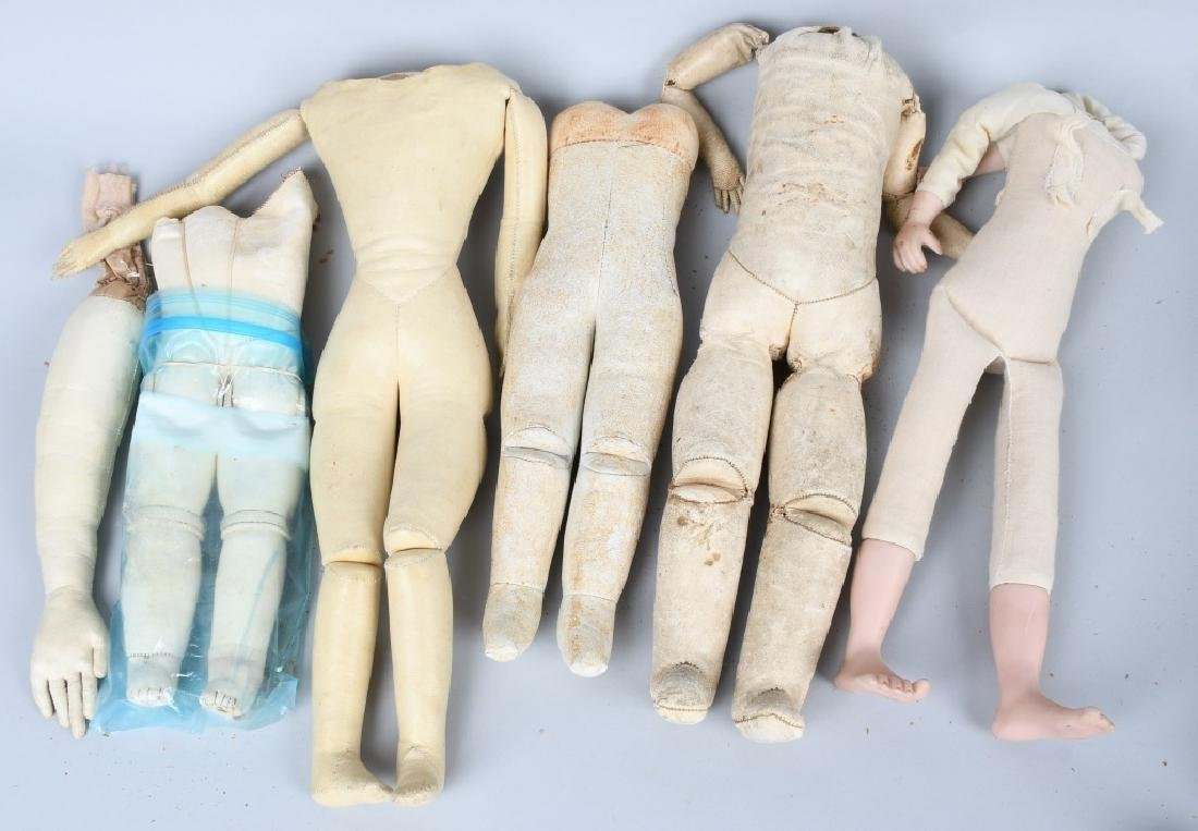 LARGE LOT VINTAGE KID and CLOTH DOLL BODIES - 3