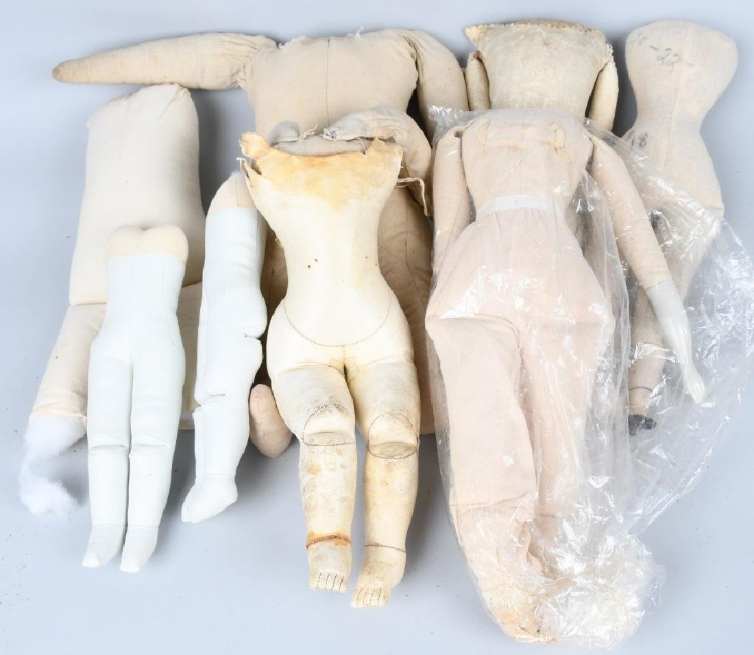 LARGE LOT VINTAGE KID and CLOTH DOLL BODIES - 4