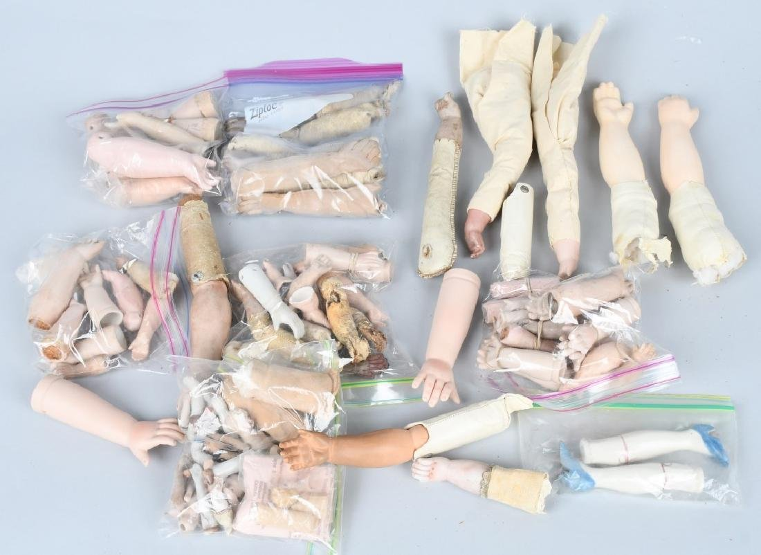 LARGE LOT VINTAGE KID and CLOTH DOLL BODIES - 5