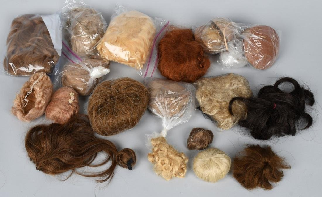 LOT of DOLL WIGS and PATES